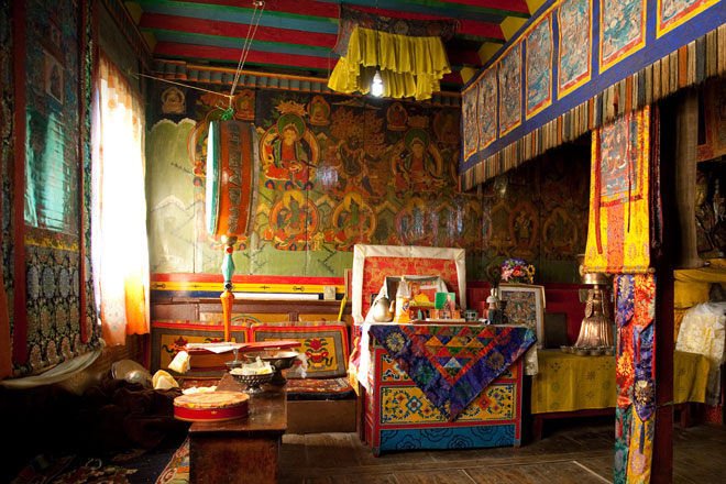 Buddhist interior